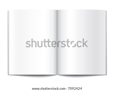 Blank magazine or note book pages design template vector illustration