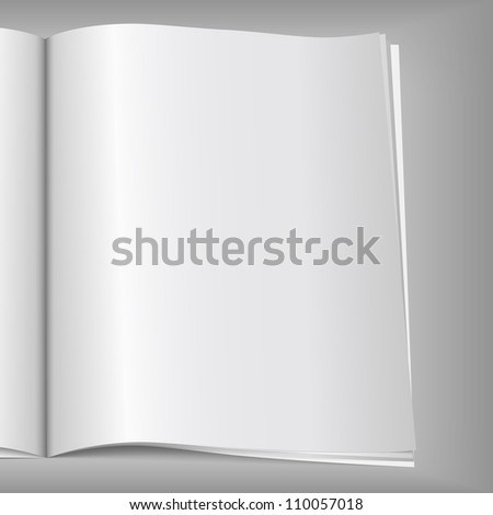 Blank magazine page, vector eps10 illustration