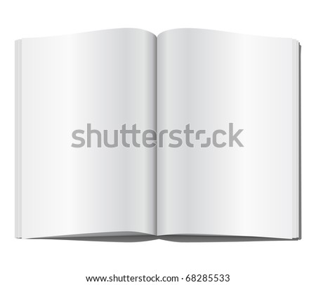 Blank magazine page. Vector illustration.