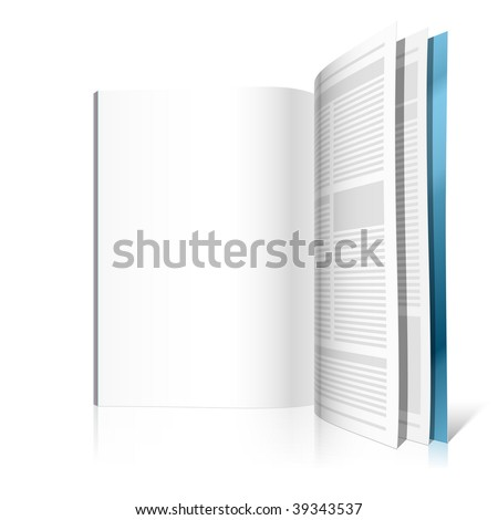 Blank magazine page. Vector illustration. Insert your graphics. - stock vector