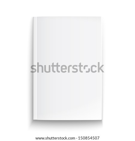 Blank magazine template on white background with soft shadows. Vector illustration. EPS10.