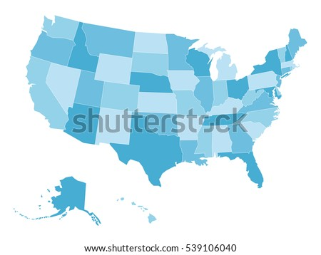 Free US Map Silhouette Vector - Blank Map Of Us High Quality