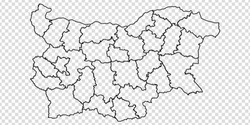 Blank map Republic of Bulgaria. High quality map of  Bulgaria with provinces on transparent background for your web site design, logo, app, UI. Europe. EPS10.