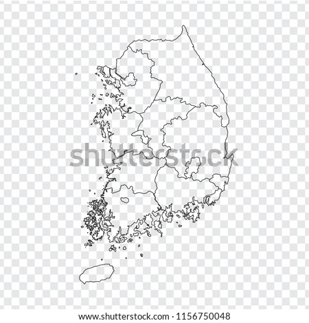 blank map south korea high