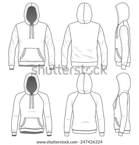 blank men's and women's hoodies
