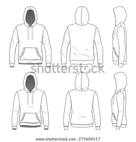 blank men's and women's hoodies