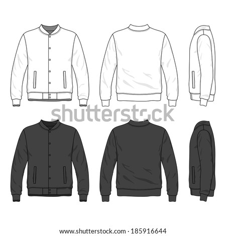 blank men's bomber jacket with