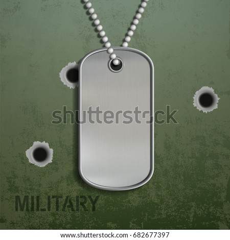 blank metal tags hanging on a