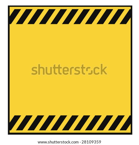 Blank Metallic Warning Template - stock vector