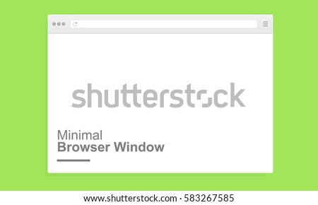 Blank minimal browser window for computer. Mockup for adaptive responsive web design. Vector illustration