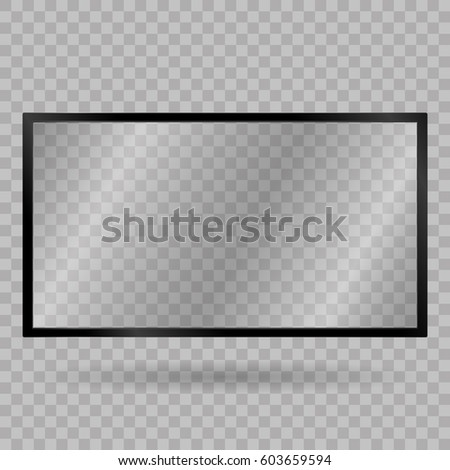Blank mobile, smartphone, tablet screen. Touch screen. TV, modern blank screen lcd, led, on isolate background, stylish vector illustration EPS10