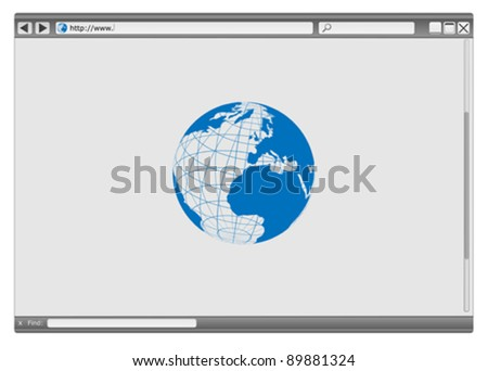 Blank Modern Internet Web Browser With Copyspace
