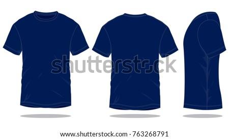blank navy blue t shirt vector