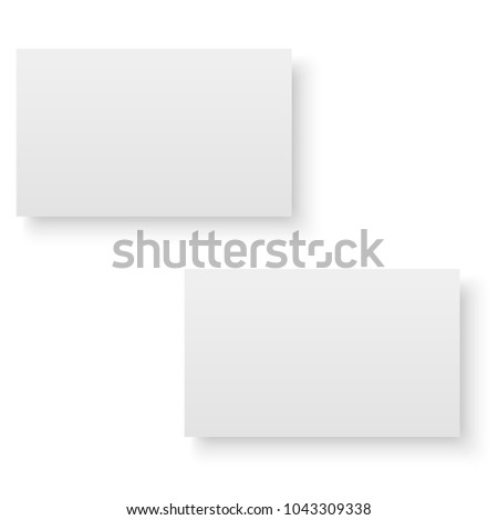 Blank of business card with soft shadows. Vector