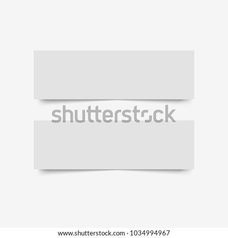 Blank of paper banners with shadow. Vector #1034994967
