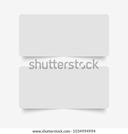 Blank of paper banners with shadow. Vector #1034994994