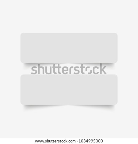 Blank of paper banners with shadow. Vector #1034995000
