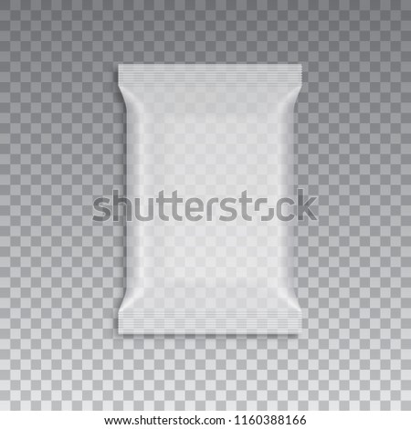 Blank of transparent flow packing for your design. Vector