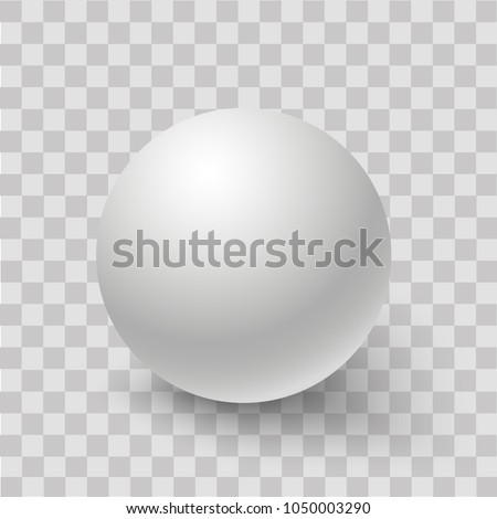 Stock Photo Blank of white round sphere or 3d ball. Vector.