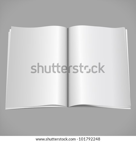 Blank open magazine, vector eps10 illustration