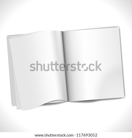 Blank Page background isolated on white. Vector Illustration