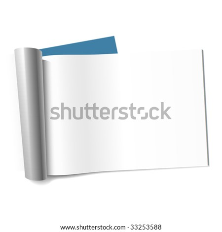 Blank page of magazine. Vector (landscape).