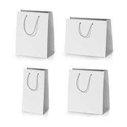 Blank Paper Bag Template Vector Set.