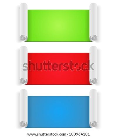 Blank Paper Banners, vector eps10 illustration
