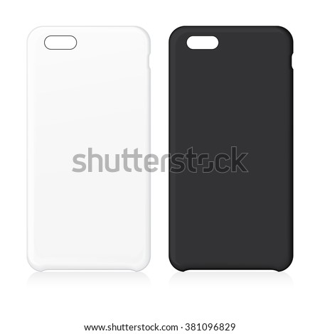 blank phone case vector