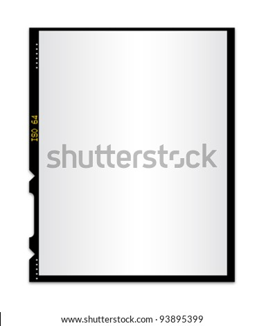 Blank photo film isolated 2