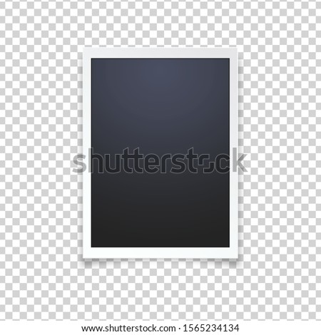 Blank photo frame, isolated on transparent background.