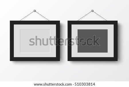 Vector Wall Frames Illustration - Download Free Vector Art, Stock ...