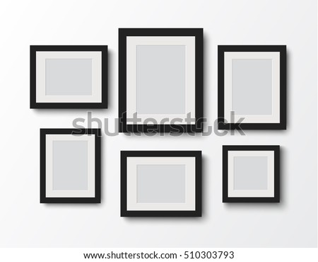 blank photo frame set  on the