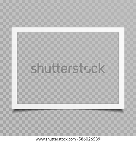 Blank photo frames with shadow effects isolated on transparent background. Vintage photos (frame) for your picture. Vector illustration in realistic style. EPS 10.