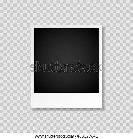 Blank photo vintage frame isolated, shadow effect. #468129641
