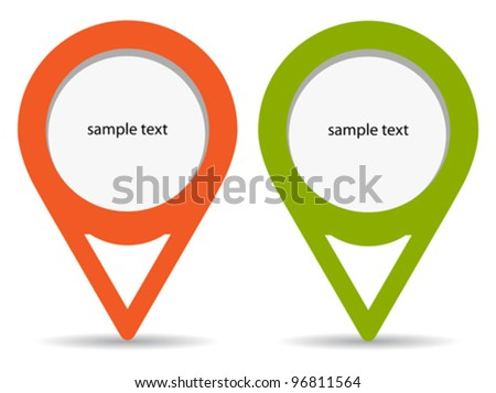 Blank pin stickers, vector illustration