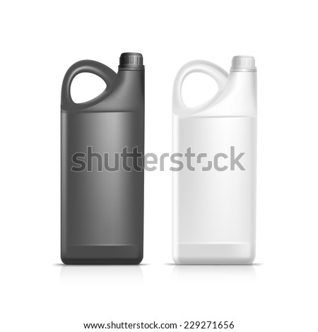 blank plastic jerrycan canister