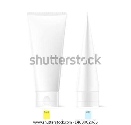 blank plastic tube for