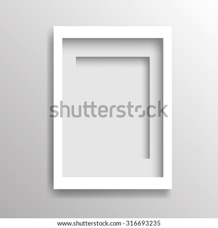 blank poster template on gray wall vector illustration ez canvas