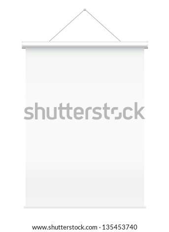 blank presentation board vector