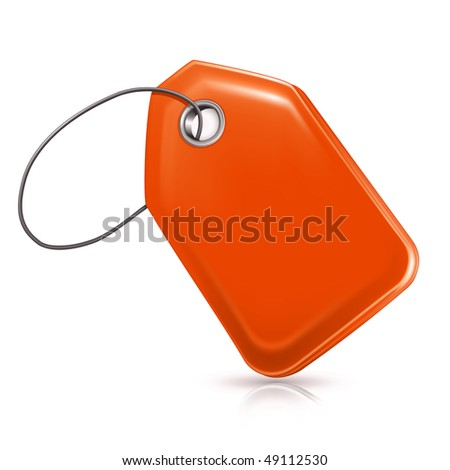 Blank Price Tag, vector - stock vector