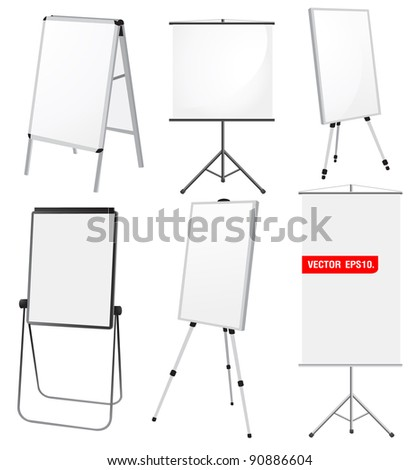 Blank Promotion Stand set. Vector template background