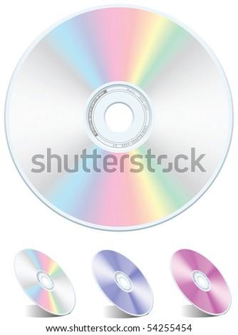 Blank rainbow DVD-CD vector