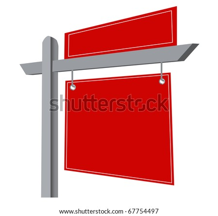 Blank Real Estate Sign Isolated on a White Background. vector file available.