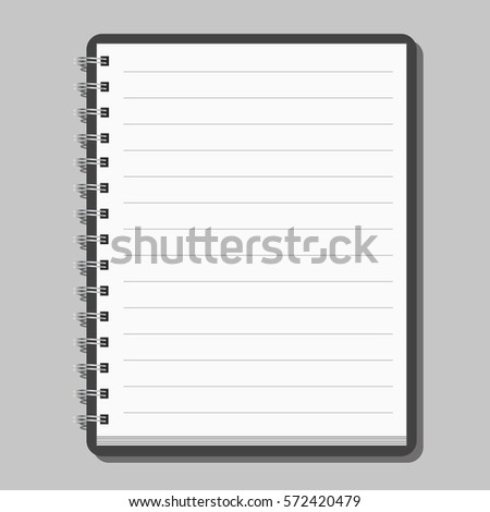 Blank realistic spiral notepad notebook isolated on gray background