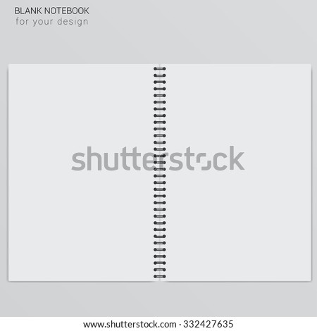 blank realistic spiral notepad notebook.Template for your design
