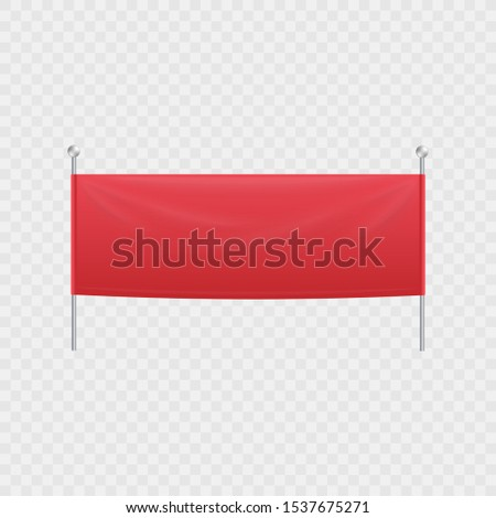 blank red textile horizontal