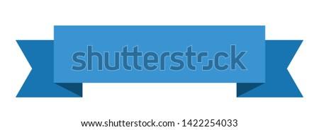 blank ribbon sticker. blank sign. blank banner