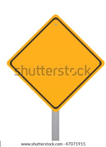 blank road-sign