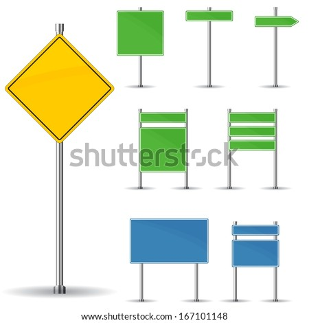 Blank Road Sign Board Blank Road Signs Board And
